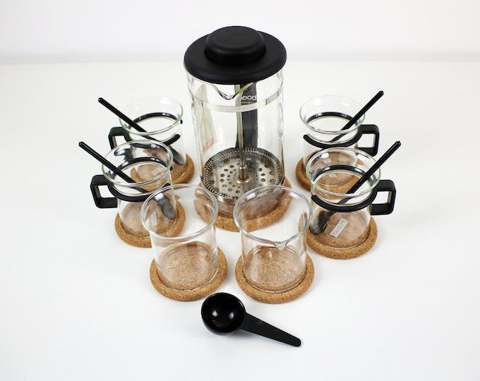 1980s Carsten Jorgensen for Bodum - Bistro complete coffee set in black plastic and glass