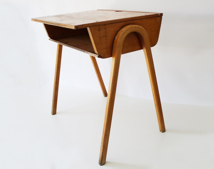 1950s mid century plywood school desk - ESA Esavian James Leonard