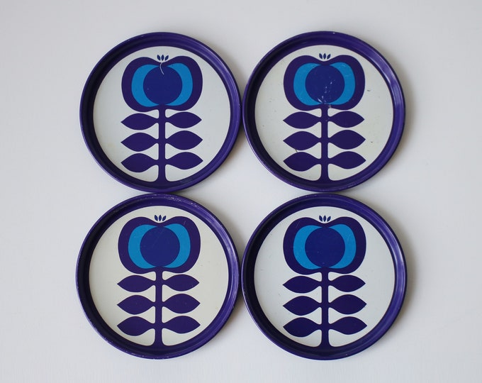 1970s metal coasters made in West Germany / designed by Elke Kromer-Zolnir