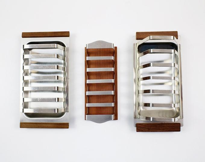 Mid century teak and stainless steel toast rack - choice of 3 Denmark / Danish