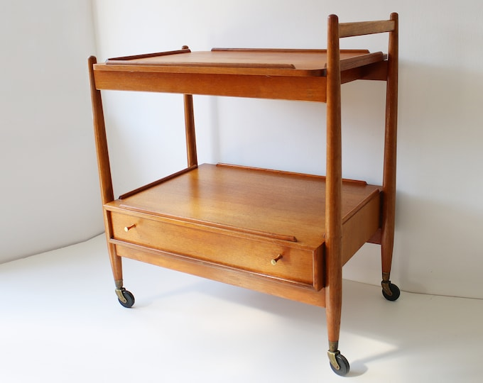 Mid century teak serving table / trolley by Arthur Edwards for White and Newton 1950s 1960s