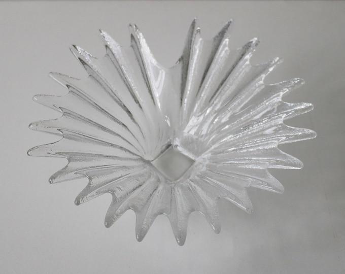 Dartington Palm dish - Anita Harris - glass sweet nibbles crystal fruit bowl