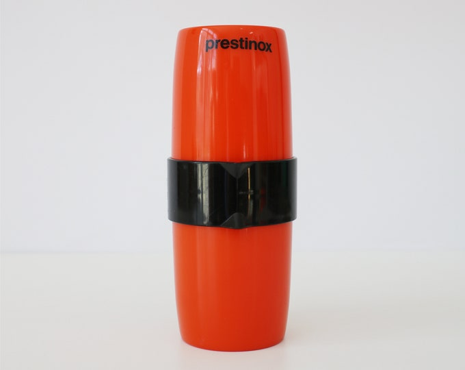 French orange and black plastic juice squeezer Prestinox