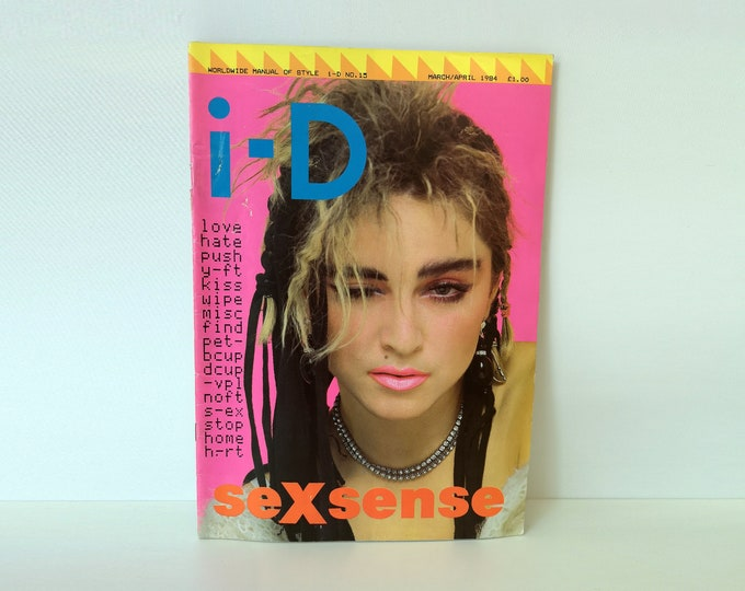 Rare 1984 ID Magazine Issue 15 Madonna 1st cover photo