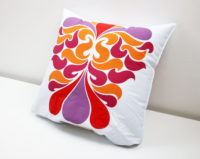 Fab 70s flower power psychedelic pop art multi-purpose bag and inflatable pillow / cushion - toiletries / beach bag