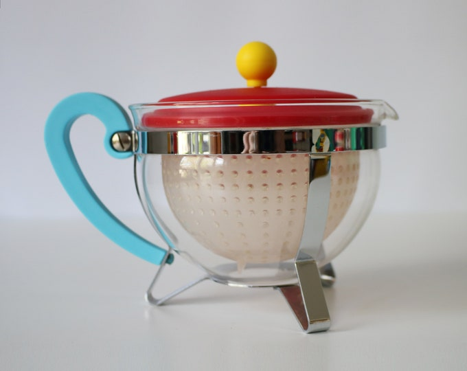 70th Anniversary Chambord teapot by Bodum 2014 in bright plastic, glass and chrome