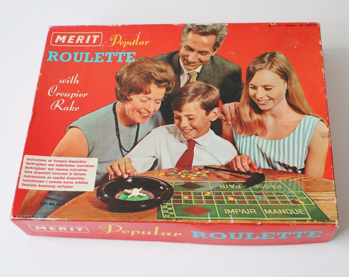 1960s Roulette game by Merit 1966 J & L Randall Ltd