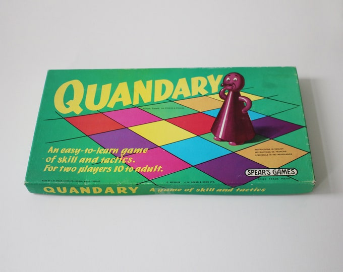 1970s Quandary board game by Spear's Games - 10 to adult