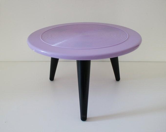 1950s atomic side / occasional / picnic table - by Laricol Plastic - detachable legs / original box