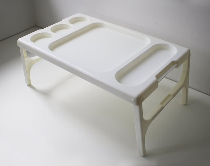1980s folding plastic tray table designed by Henry C H Wang for Twopo (Two Powers)