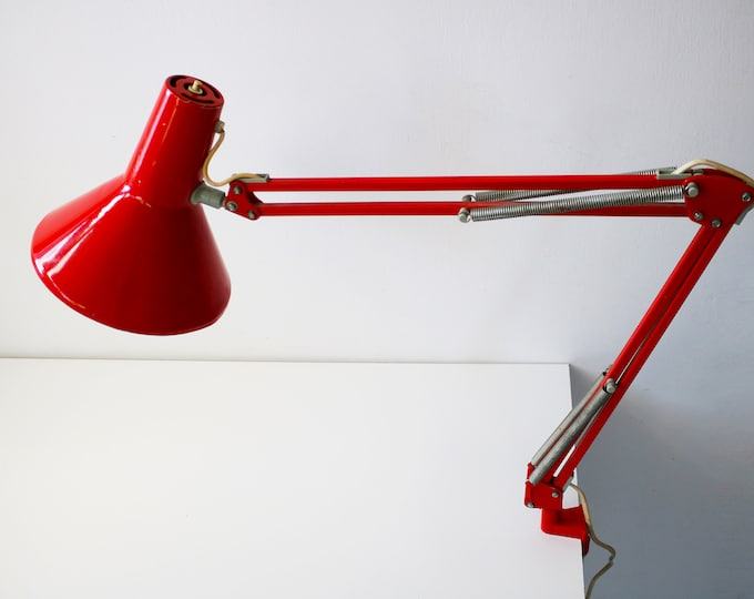 Rare Danish anglepoise draughtsman draftsman architects lamp with clamp