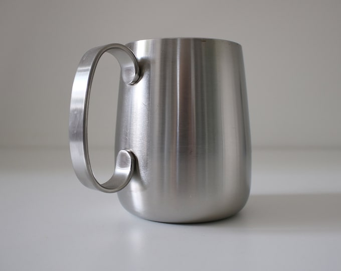 Modernist stainless steel tankard / mug by Robert Welch for Old Hall - mid century