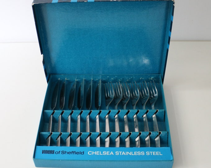 1970s Viners Chelsea fish knives and forks