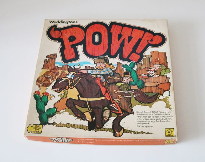 POW cowboy board game by Waddington