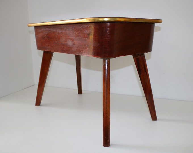 Mid century Morco sewing box table with dansette legs