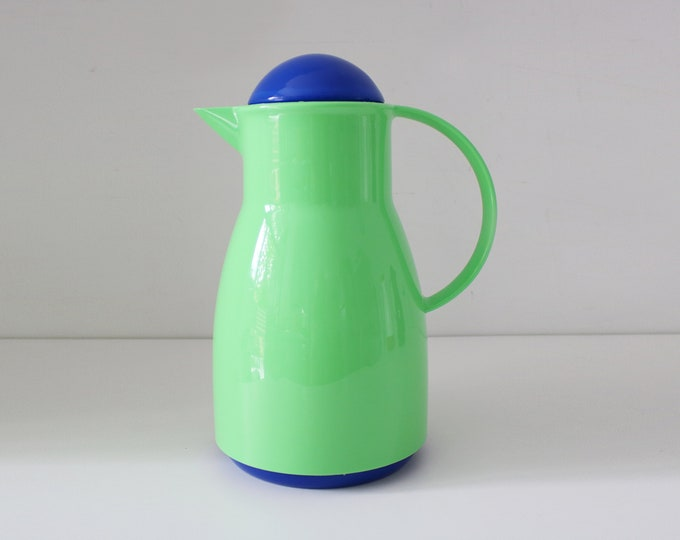 80s 90s Thermos flask / carafe / coffee butler / water jug - Memphis colours - Model 930