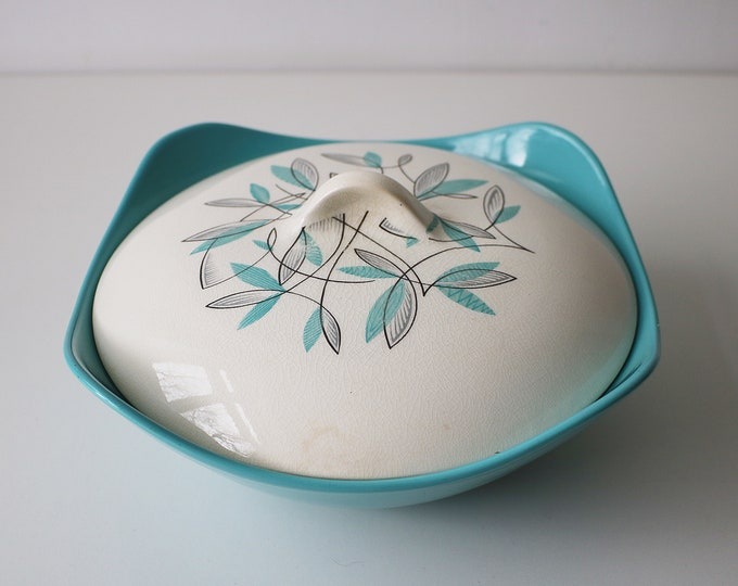 1950s Midwinter Modern lidded casserole serving dish