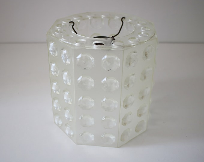 1960s lucite gemstone-effect plastic textured lamp shade octagonal / space age / modernist