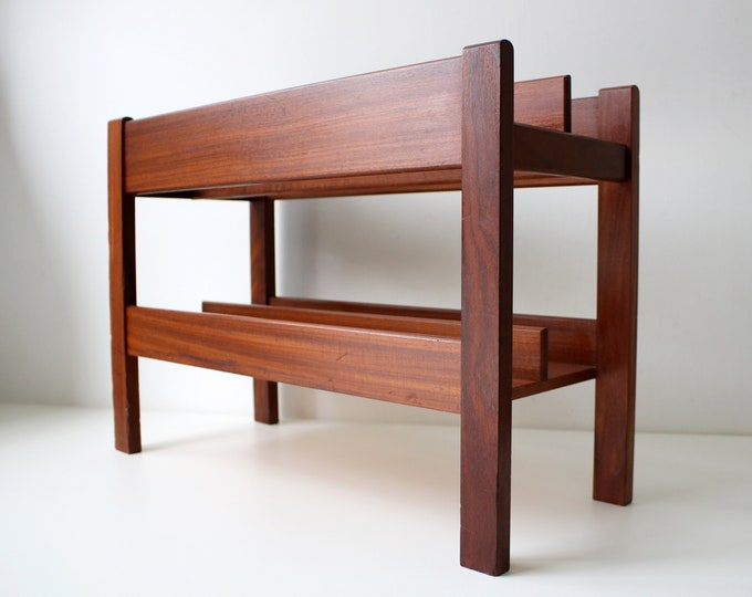 Mid Century Heals magazine / record rack in teak - Cantebury design by Guy Rogers in the 1960s