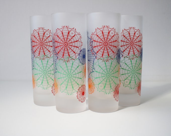Rare set of 4 Dartington glasses - sold exclusively in the Millennium Dome - 1999/2000 - unused