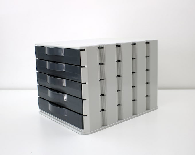 1980s 90s French filing drawer system by Fellowes - stacking units - 3 available