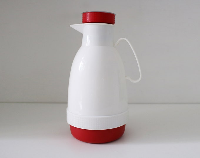 1980s insulated coffee hot water flask / jug / carafe. Made in Sweden - Memphis styling