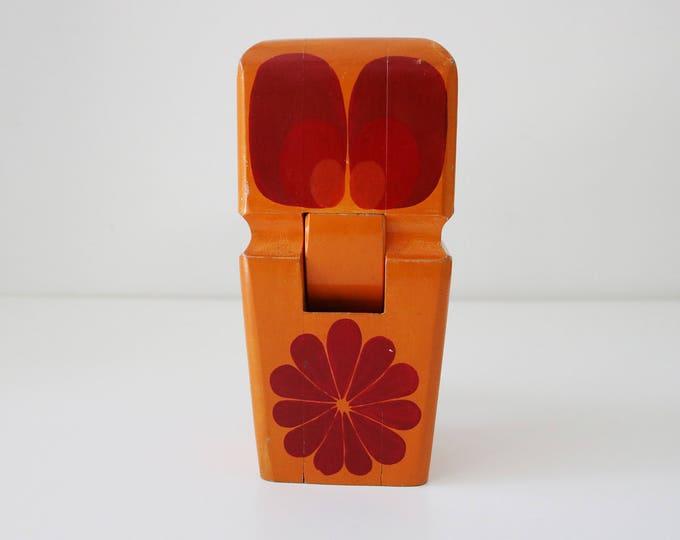 1970s handmade wooden owl nutcracker - made in France