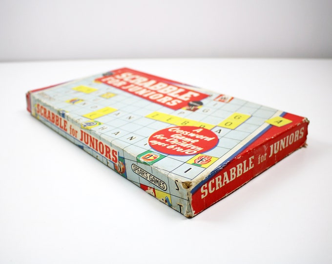 Vintage Scrabble for Juniors board game  - 1960s - Collector's item
