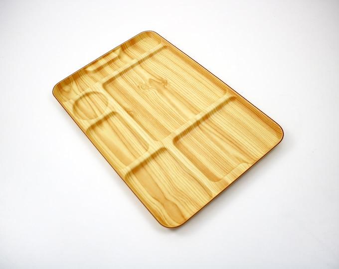 Italian Robex mid century dinner / serving tray by Caleppio Italy -pine effect laminate - unused