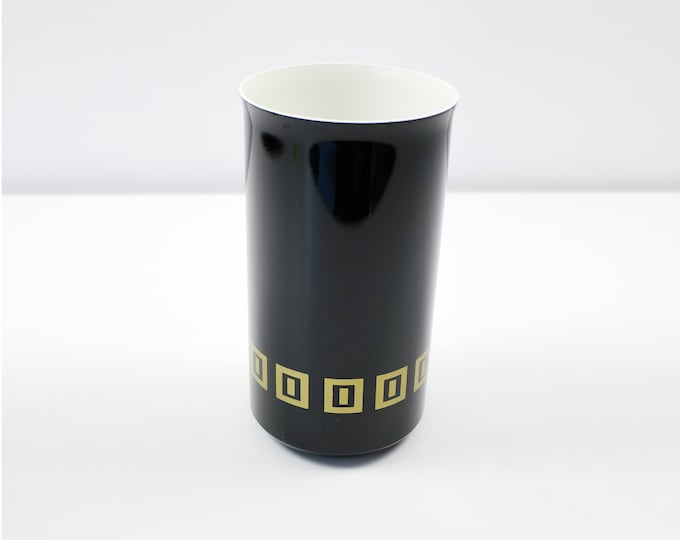1970s 80s art deco revival / geometric wine cooler by Sparklets - would also make a cool vase