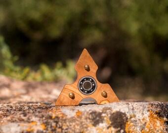 wooden fidget spinner