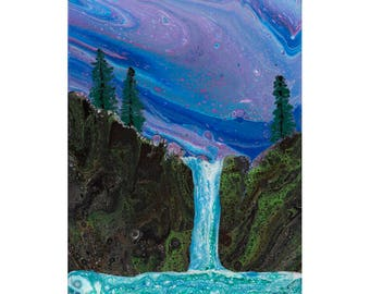 Waterfall, Original painting WF11x14-1