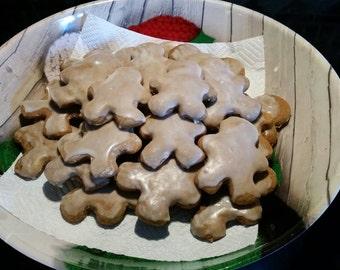 Homemade Iced Gingerbread Man Cookies - 24 Cookies