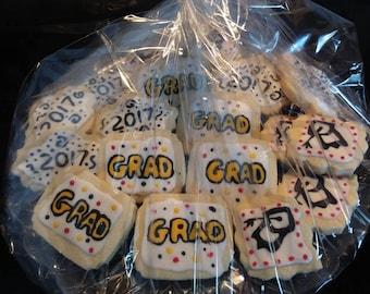 Graduation Sugar Cookies - Decorated Homemade Cookies - Iced Cookies