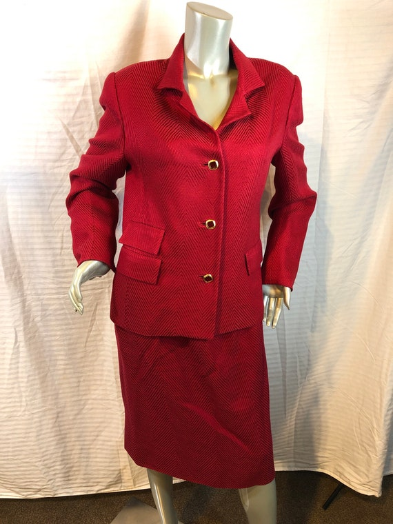 William Pearson Women Red Skirt& Blazer Suit  Craf