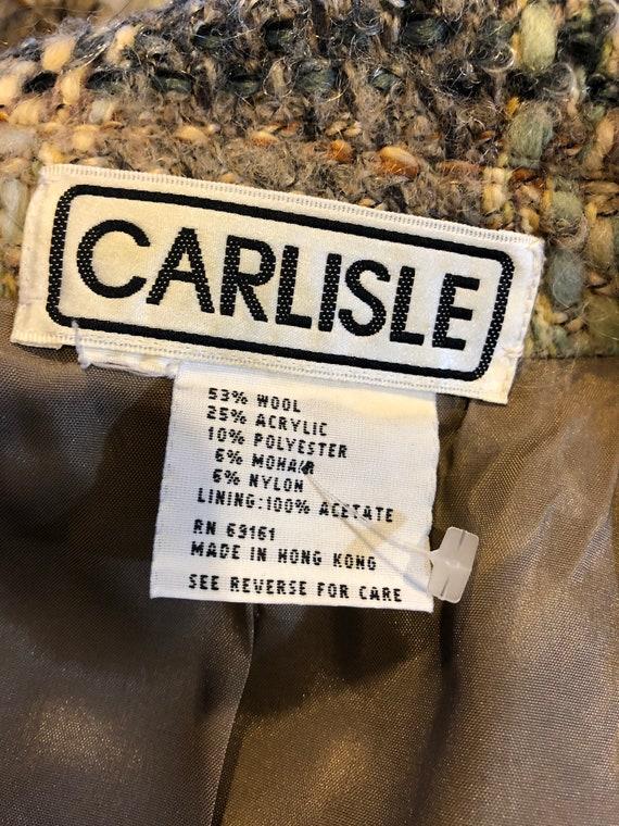 Vintage Carlisle Women Multi Color Plaids Jacket/… - image 8