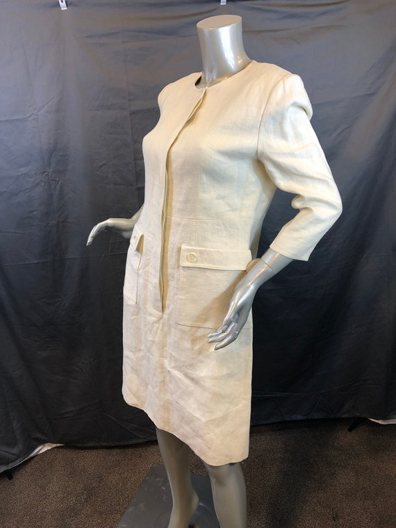 Vintage William Pearson Linen Off White Shirt Dres