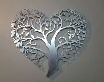 Laser Cut Metal Decorative Wall Art Panel Sculpture For Home, Office, Indoor or Outdoor Use (Tree of Life)