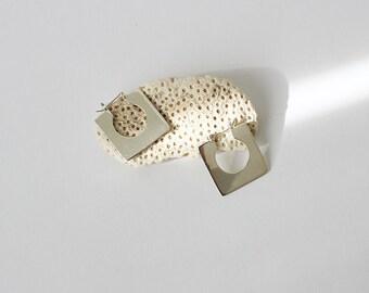 Modernist Sterling Silver Square Earrings