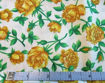 "Fasco Quilt/Craft Fabric - ""Garden Treasures by Barbara Tourtillotte - Vintage - Floral- 1/2 Yd."