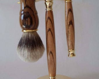 Zebrano Shaving Set