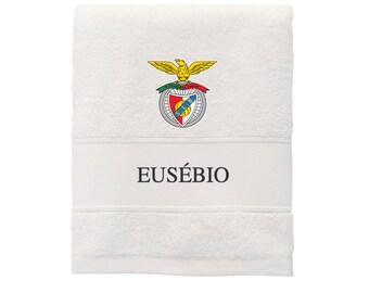 Personalized White Waffle Bathrobe Benfica SLB Pluribus