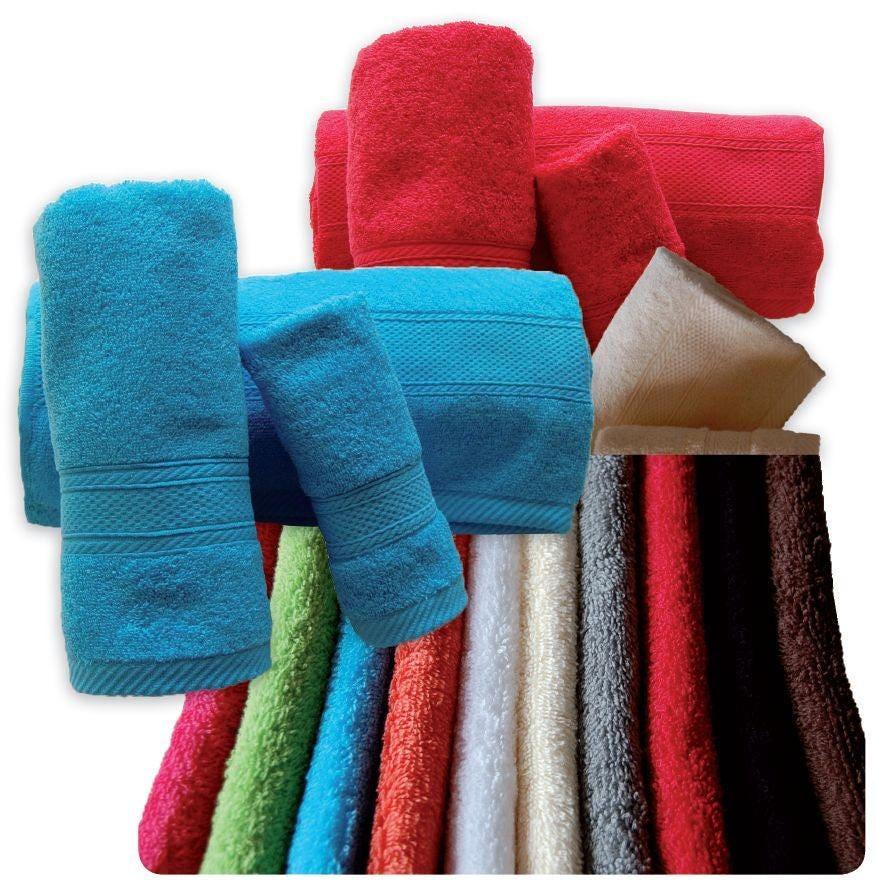Spa Quality Towels: Top Quality Bath Towels 500gsm Ref. Aqua 3-4 Pieces Set