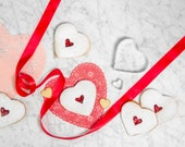 DIY Baking Kit for Linzer Cookies, perfect for Valentine's Day