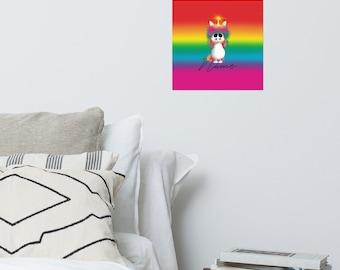 Photo paper poster - Uniqorn Rainbow