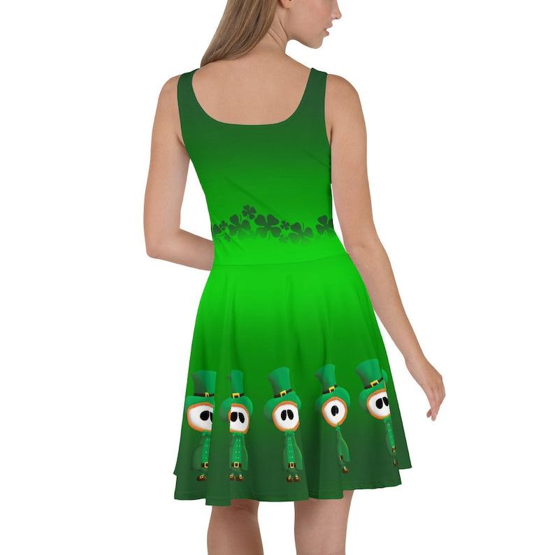 Booml St Patrick\u2019s Day Leprechaun Skater Dress