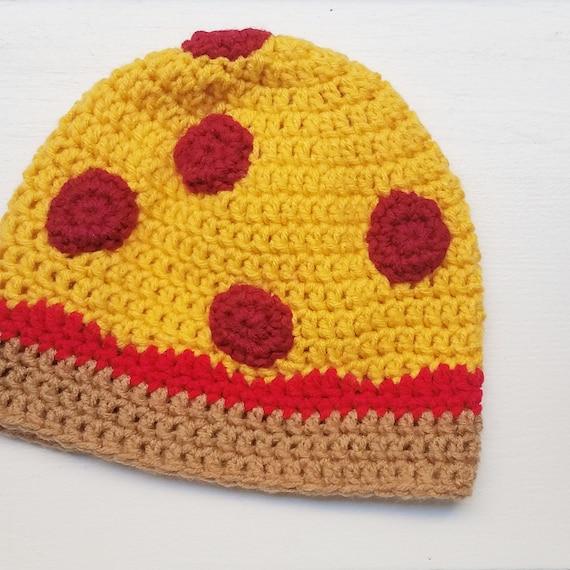 Pizza Käse Pizza gehäkelte Mütze Salami Pizza Käse Pizza | Etsy