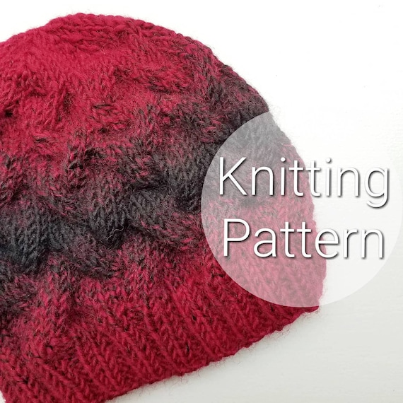 Adult Loose Braid Cable Pattern Chunky Hat Knitted Cable Etsy