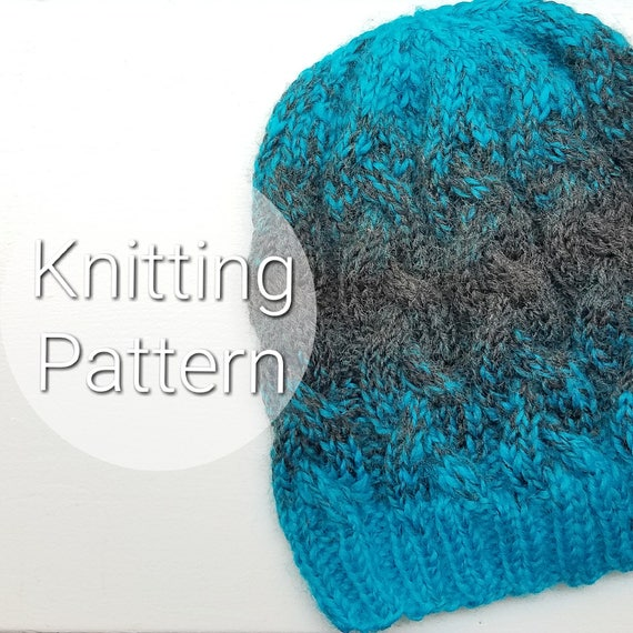 Adult Braided Cable Hat Knit Hat Cable Knit Hat Cable Etsy