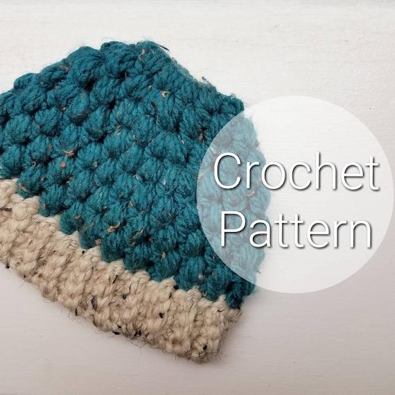 Kids Puff Stitch Ponytail Hat Kids Crochet Puff Stitch Hat Etsy